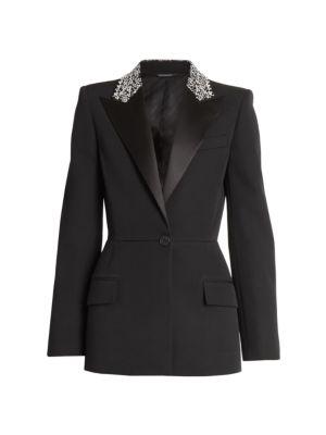 Embellished Collar Wool Jacket