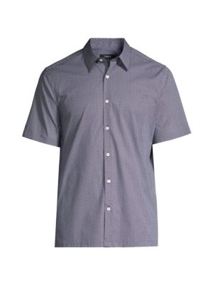 Irving Crispin-Print Button-Up T-Shirt