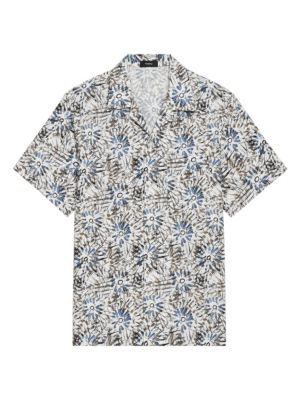 Irving Relax-Fit Sketched Floral Short-Sleeve Shirt
