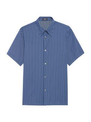 Weldon Relax-Fit Reverse Stripe Short-Sleeve Shirt
