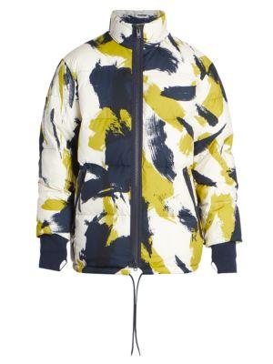 Paint-Print Puffer Jacket