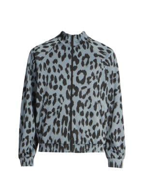 Guepard Leopard-Print Jacquard Track Jacket
