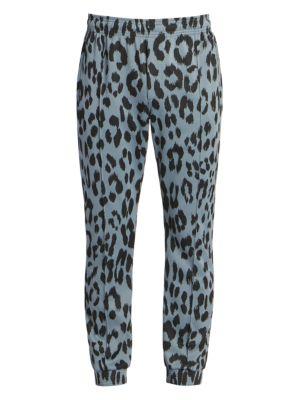 Guepard Leopard-Print Jacquard Track Pants