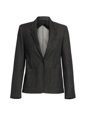 Berlina Chambray Denim Wool Blazer