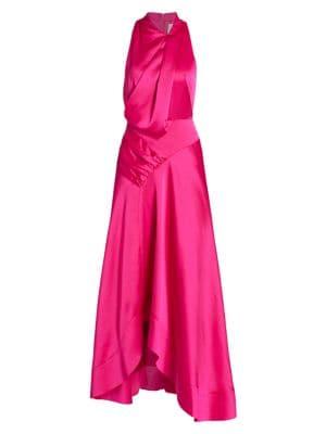 Palmera Satin Draped Dress