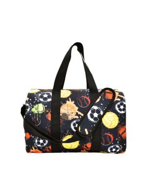 Sports Graphic Canvas Duffle Bag