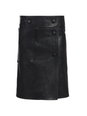 Carly Faux-Leather Skirt