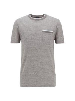 Heathered Soft Stripe Pocket T-Shirt