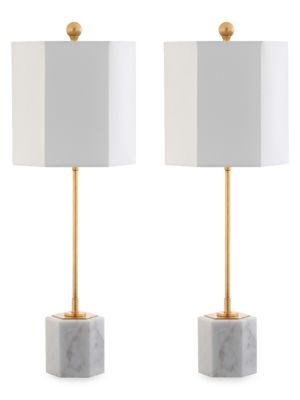 2-Piece Magdalene Marble Table Lamps