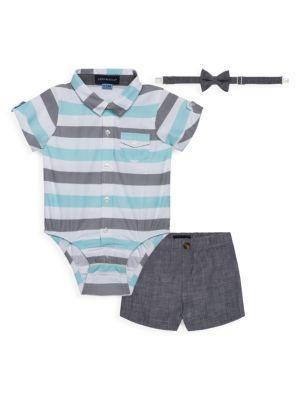 Baby Boy's 3-Piece Shortsuit Set