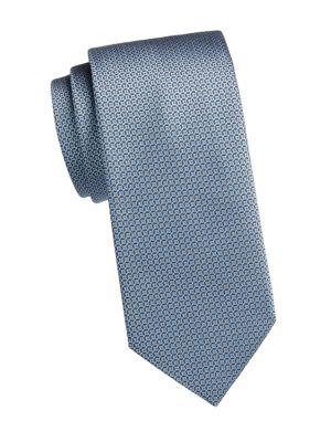Multi Graphic Silk Tie