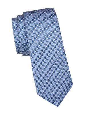 Micro Print Silk Tie