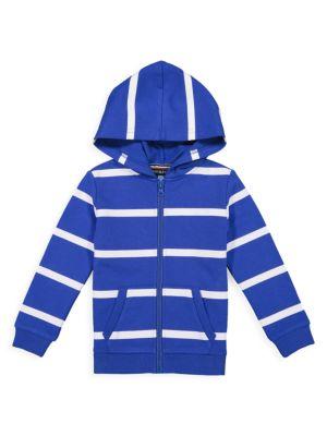 Little Boy's Striped Zip-Front Hoodie