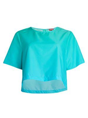 Teigan Short-Sleeve Crop Top