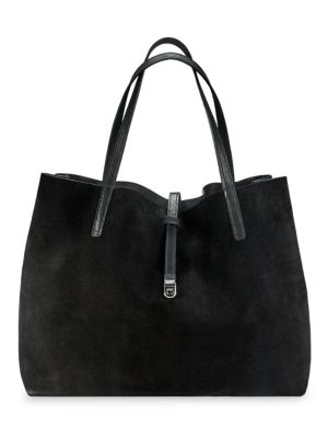 Luna Reversible Metallic Leather & Suede Tote
