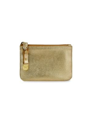 Small Luna Metallic Leather Pouch