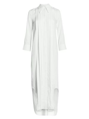 Gabby Pintuck Maxi Shirtdress