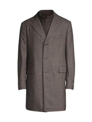 Mini Check Virgin Wool Coat