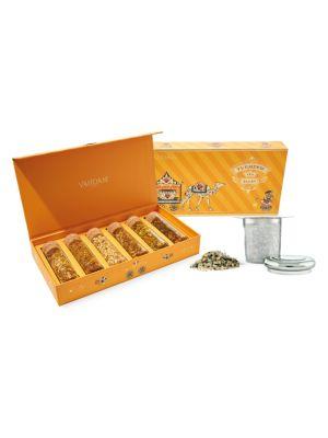 Turmeric Tea Tales + Classic Tea Infuser 7-Piece Set