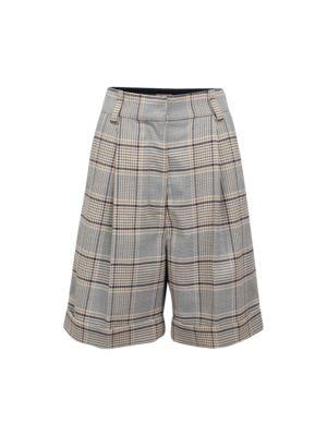 Nouga Plaid Longline Shorts