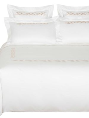 Pearls Embroidery 295 Thread Count Cotton Sateen Duvet Cover