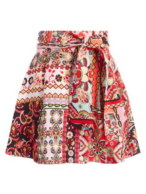 Helina Patchwork Floral Mini Skirt