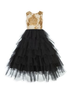 Gilr's Floral Tutu Ball Gown