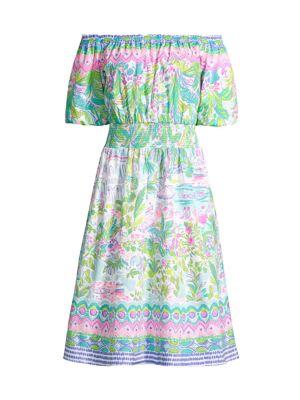 Camille Off-The-Shoulder Floral Dress