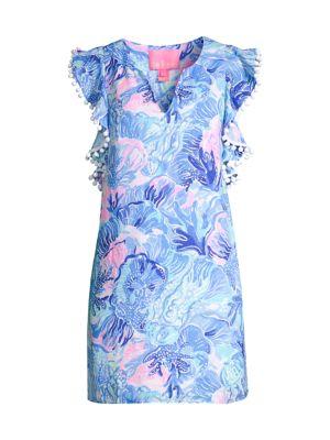 Astara Flutter Linen Dress