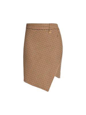 Twisted Plaid Mini Skirt
