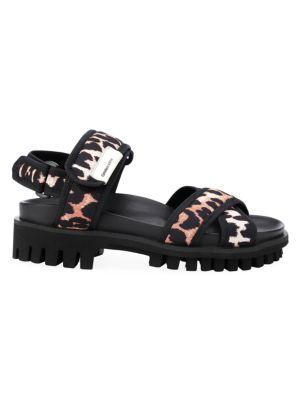 Leopard-Print Sport Sandals