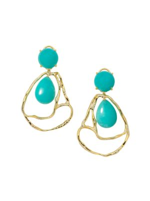 Rock Candy® Drizzle 18K Yellow Gold, Amazonite & Diamond Earrings