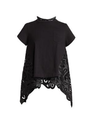 Paisley Lace T-Shirt