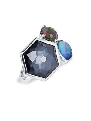 Rock Candy® Sterling Silver & 3-Stone Ring