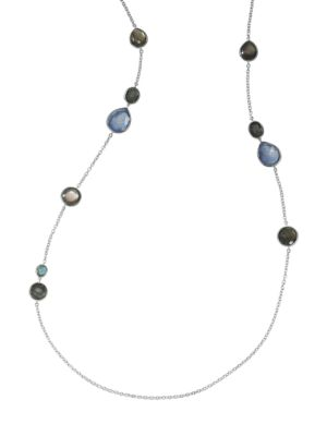 Rock Candy® Sterling Silver & Multi-Stone Mixed-Shape Station Long Necklace