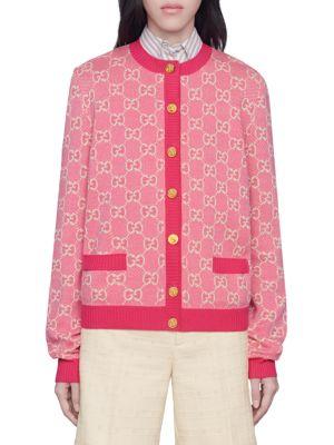 GG Cotton Wool Piquet Cardigan
