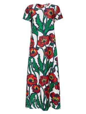 Poppy Silk Maxi Dress