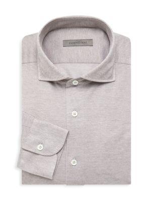 Jersey Pique Dress Shirt