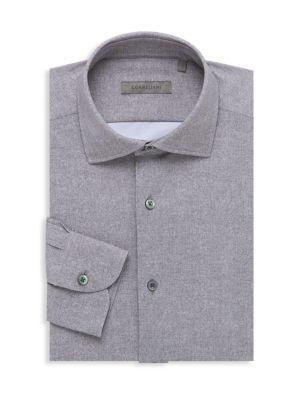 Herringbone Textured Dress Shirt