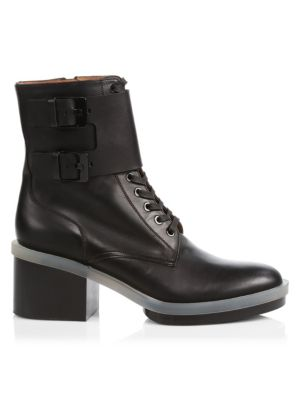 Eden Leather Combat Boots