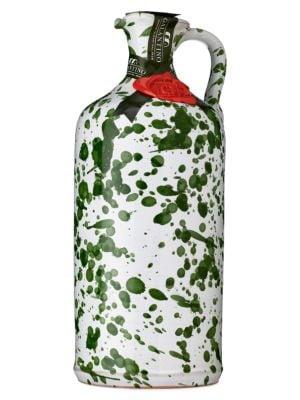 Extra Virgin Olive Oil In Artisan Handpainted Ceramic