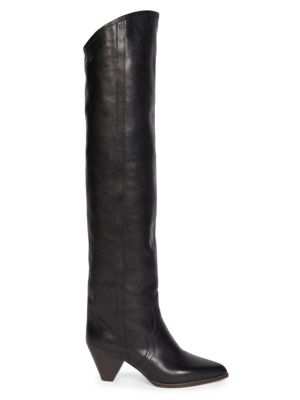 Remko Leather Tall Boots
