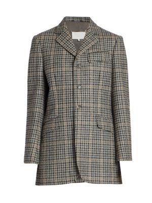 Wool Check Blazer