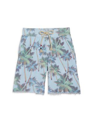 Little Boy's & Boy's Palm Trees Drawstring Shorts