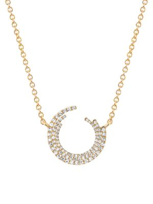 14K Yellow Gold & Diamond Willow Pendant Necklace