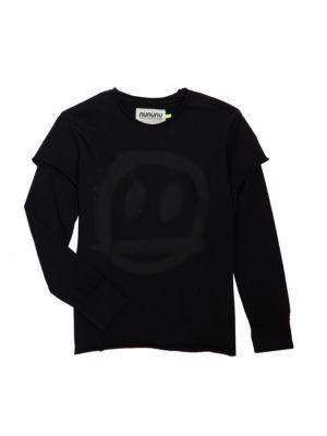 Little Girl's & Girl's Sprayed Smiled Sweatshirt