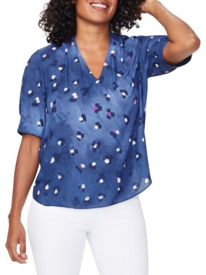 Charming Abstract Floral Top