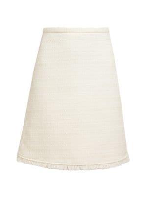 Tweed Stretch-Wool Pencil Skirt