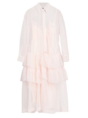 Tiered Tulle Shirtdress