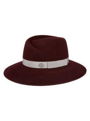 Virginie Lines On Felt Panama Hat